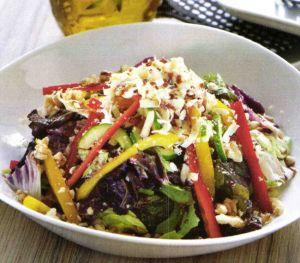 Nar Ekşili Akdeniz Yeşillikleri Salatası