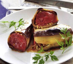 Nohutlu Bulgurlu Patlıcan Dolması