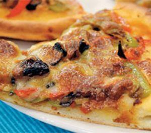 Patlıcanlı Domatesli Pizza