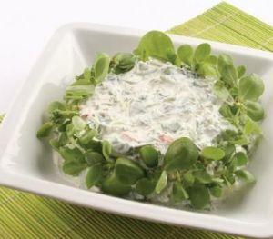 Labneli Semizotu Salatası