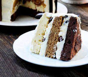 Kahveli Kakaolu Dondurma Pastası
